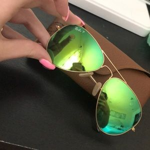 Raybans *authentic* polarized aviator sunglasses
